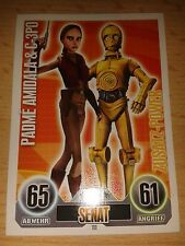 Force Attax Star Wars Serie 1 Zusatz-Power Nr.111 Amidala & C-3PO Sammelkarte