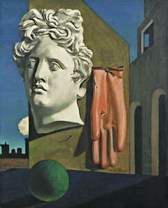 Giorgio de Chirico The Song of Love Giclee Canvas Print Poster LARGE SIZE