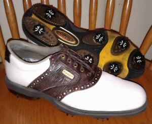Men's FOOTJOY DRYJOYS 53549 ECL/Optiflex Size 9 N White Iguana Print Golf Shoes