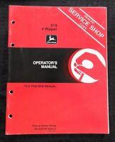 GENUINE 1981 JOHN DEERE 910 V-RIPPER OPERATORS MANUAL VERY NICE
