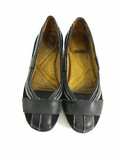 NATURALIZER BLACK LEATHER SLIP ON LOAFERS FLATS SHOES WOMENS US 7.5 M EUR 38