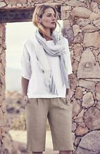 NWT Eileen Fisher L Icons Organic Handkerchief Linen Ballet Neck Box Top White