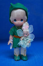 "9"" Peter Pan & 3"" Tinker Bell Disney Precious Moments Vinyl Doll Set 3307"