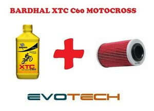 1 LT OLIO BARDHAL XTC C60 MOTO CROSS 10W40 + FILTRO OLIO HUSQVARNA SMR 400
