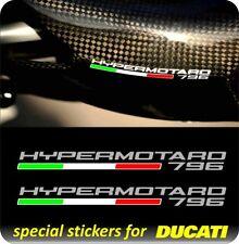 2 Adesivi DUCATI HYPERMOTARD 796 con bandierina italia