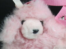 "FABULOUS PINK POODLE WINTER HAND WARMER USA LOVE STAMP PLUSH STUFFED ANIMAL 10"""