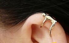 Golden Climbing Man Naked Climber Ear Cuff Helix Cartilage Earring