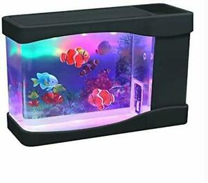 Artificial Mini Aquarium Fish Tank Color LED Aquarium Ornament with 3