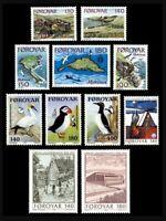 Faroe Islands #31-41 MNH Year Set 1978