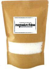 Magnesium Bath Soak * Magnesium Flakes with Rosemary and Tea Tree Essential Oils