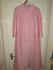 Vintage 1970s St.Michael blush pink Nylon quilted dressing gown bust 34