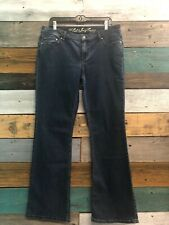 NEW JUICY COUTURE Remy Heart Pocket Cali Jeans SIZE 31 Boot Cut Dark Wash