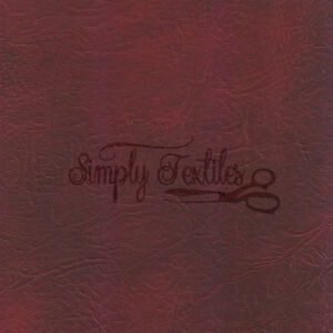 LUXURY OXBLOOD FAUX LEATHER, LEATHERETTE MATERIAL, FIRE RETARDANT UPHOLSTERY