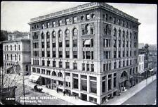DUBUQUE Iowa ~ 1900  BANK AND INSURANCE BUILDING ~ Horse Carriage ~ Bicycle