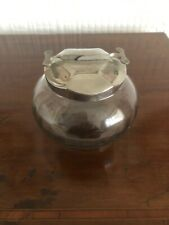 Great Vintage Sugar Cube Bowl With Mechanical Tongs