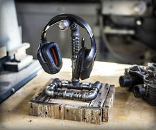 Gaming Single Headset / Headphone Hanger Stand ... Industrial Steampunk