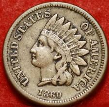 1860 Philadelphia Mint Copper-Nickel Indian Head Cent Free Shipping