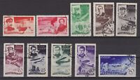 USSR 1935, Sc# C58-C67, CV $126, Rescue of Chelyuskin crew, Air post, USED