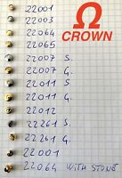1 pc OMEGA Crown corona Original parts vintage GENUINE New NOS
