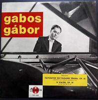 Brahms - 16 Waltzes & Paganini Variations, GABOR GABOS, Qualiton, MONO