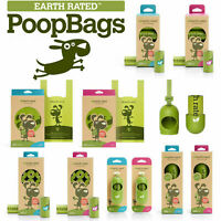 Earth Rated Dog Puppy Poo Bags Poop Waste Refill Roll Lavender Scented Dispenser