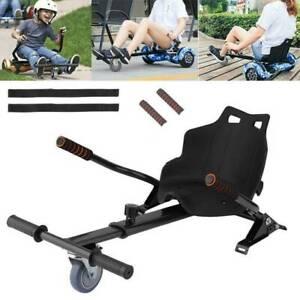 Hoverkart Go Kart for Hoverboard Self Balance Scooter Hover Cart board Black