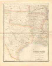 1874 ca LARGE ANTIQUE MAP- SWANSTON -USA- SOUTH CENTRAL - TEXAS