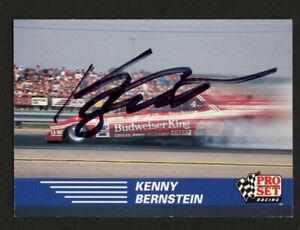 Kenny Bernstein #103 signed autograph auto 1991 Pro Set NHRA Car Card