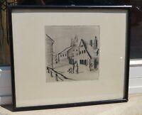 Erich Fraass (Glauchau 1893 - 19474 Dresden) - Dorfstrasse I 1920 - handsigniert