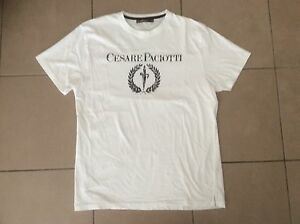 Authentic CESARE PACIOTTI    Slim fit  Logo T shirt     Size XXL ( Fit M~L )