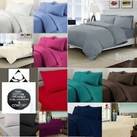 ✅🔥⭐ THERMAL 100% BRUSHED COTTON FLANNELETTE QUILT DUVET COVER SET COSY WARM