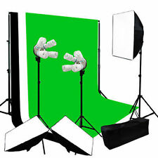 Studio 2400w Video Photography Softbox Stand Continuous Lighting Kit Day Light