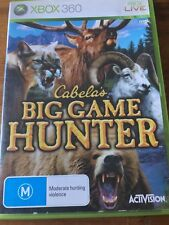 CABELAS BIG GAME HUNTER XBOX 360 ORIGINAL AUS PAL VGC Missing Manual