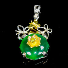 Fine Art13ct+ Natural Onyx 925 Sterling Silver Pendant /NP07517