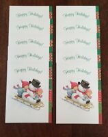 Snowman Kids Sled Ruth Bill Morehead Collection Christmas Cards 10 NEW Current