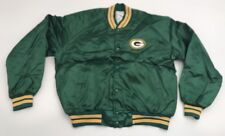NEW Vtg Green Bay Packers Chalk Line Satin Jacket NWOT Button Up XL Deadstock