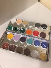 Kryolan Aquacolor - 24 Color Makeup Palette Kit 1108K for Face and Body Paint