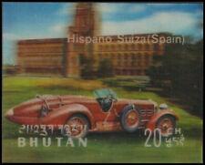 "BHUTAN 128D - Antique Automobiles ""Hispanoa Suiza"" (pf3093)"