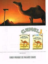 PUBLICITE ADVERTISING 074  1992  CAMEL  cigarettes