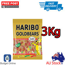 Brand New 3 KG Haribo Goldbears Gummy Bears Australian Stock Free Fast Shipping