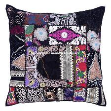 """24"""" Indian Patchwork Khambadia Cushion Covers Sofa Decor Indian Pillow Sham/Case"""
