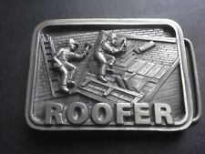 Made in Usa! Roofer Belt Buckle Nos!