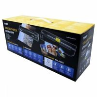 Text Laminator and Paper Trimmer Value Pack Box With Laminate Pouches - NEW