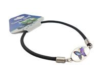 Bracelet papillon en nacre ormeaux (violet).