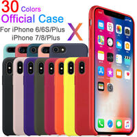 Funda protectora Ultra-Thin Luxury de Silicona original para iPhone 8 X Plus 7 6