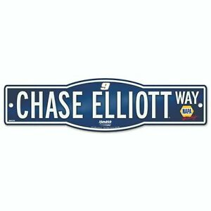 "Wincraft Chase Elliott #9 NASCAR 4""x17"" Street Sign - Blue"