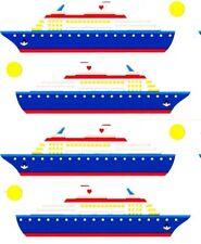 ~ Cruise Ship  Boat Holiday Luxury Mrs Grossman Stickers ~
