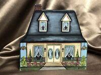 RETIRED Brandywine Woodcrafts Vintage House Wood Shelf Sitters 1992 0502NS VG