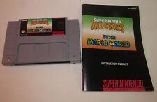 Super Mario All-Stars + Mario World Super Nintendo SNES w/ Instruction Manual VG
