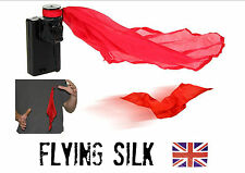 FLYING SILK 25 metre magic trick. electronic reel +extra spool of thread FREE